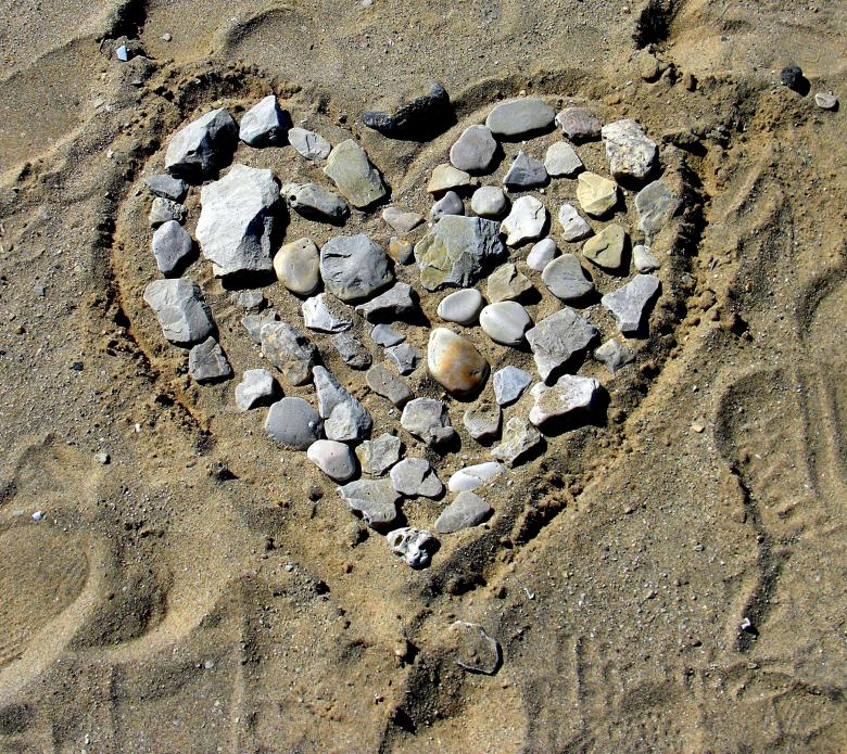 Free Stock Photo of Beach Heart Created by Brian
