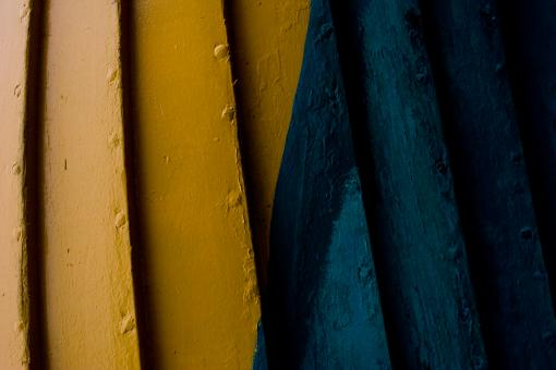 Yellow and blue wood - Free Stock Photo