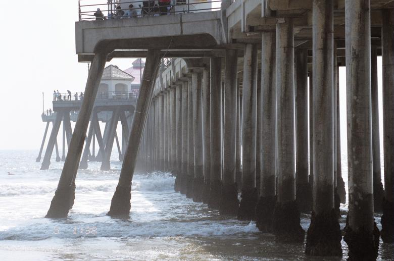 Free Stock Photo of Huntington beach pier Created by vickie cook