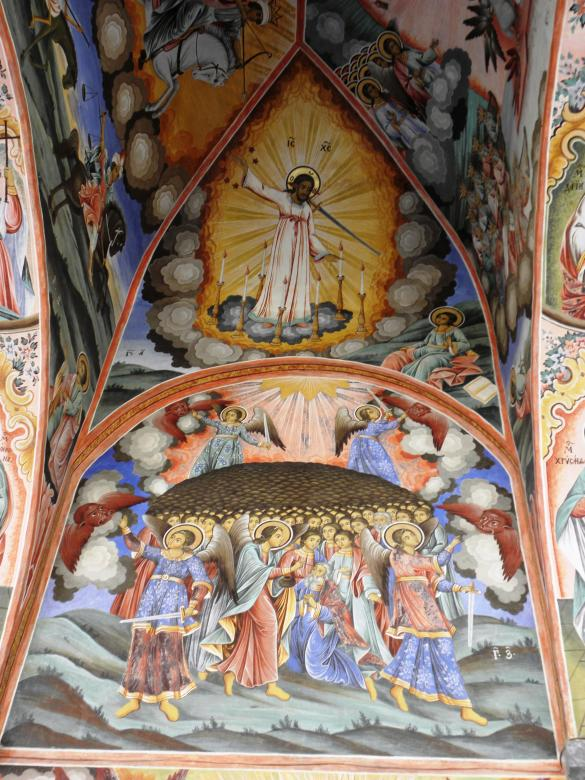 Free Stock Photo of Medieval frescoes in the Rila Monastery. Created by Yuliy Ganev