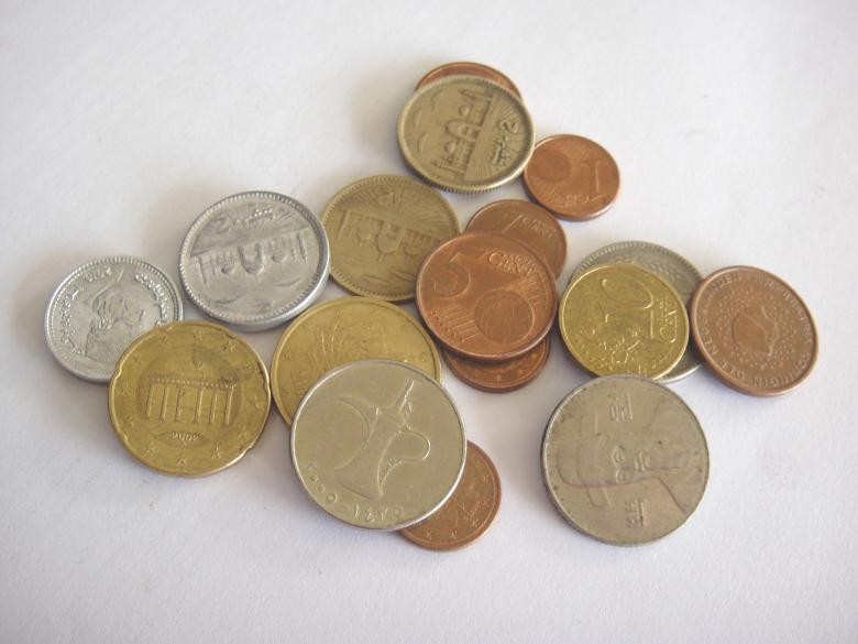 Coins collection Free Photo