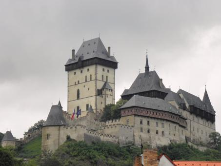 Castle-Karlstein near Prague - Free Stock Photo