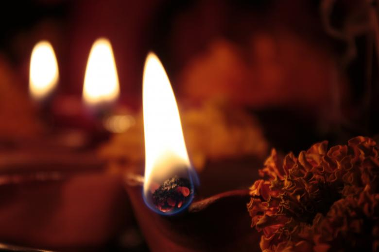 Free Stock Photo of Four earthen lamps(diya) on diwali Created by Sundeep Goel
