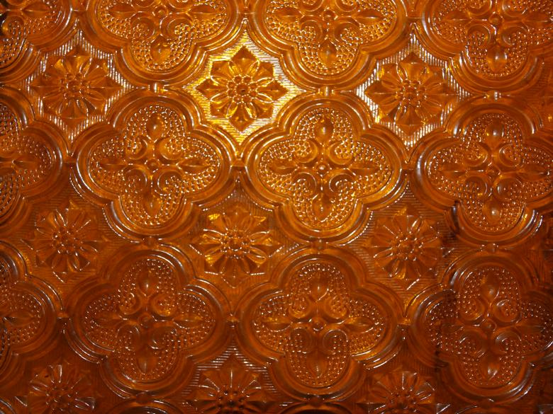 Free Stock Photo of Orange Glass Texture Created by Ed Davad
