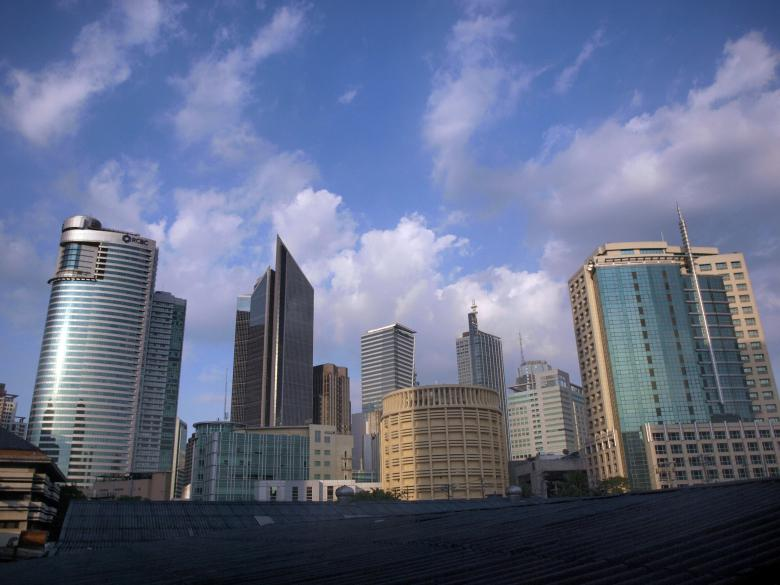 Free Stock Photo of Makati skyscrapers Created by Ed Davad