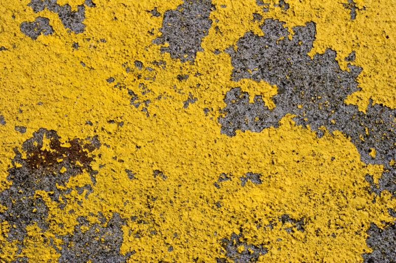 Free Stock Photo of Yellow Paint Texture Created by Bjorgvin Gudmundsson