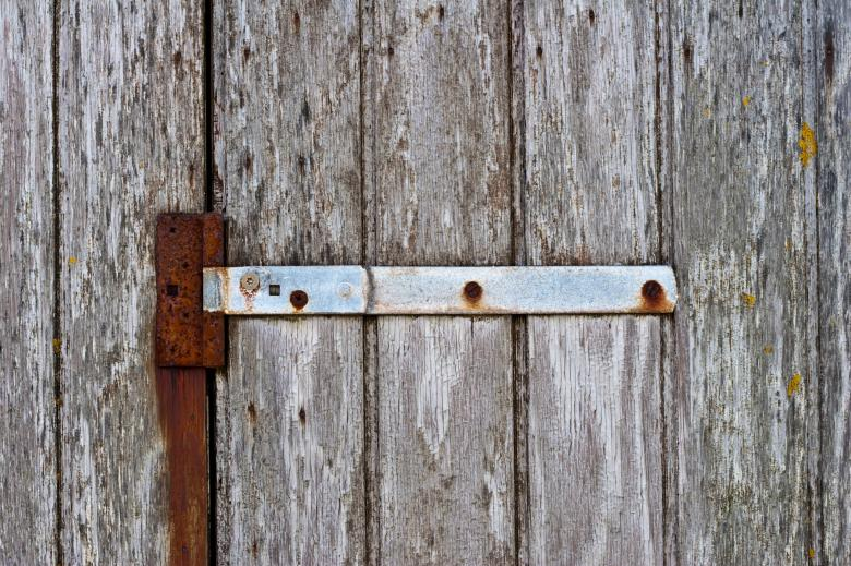 Free Stock Photo of Rusty Hinges on Wood Created by Bjorgvin Gudmundsson