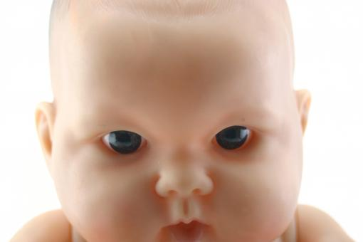 Baby doll face - Free Stock Photo