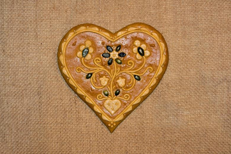 Free Stock Photo of Gingerbread heart Created by Hello Danda