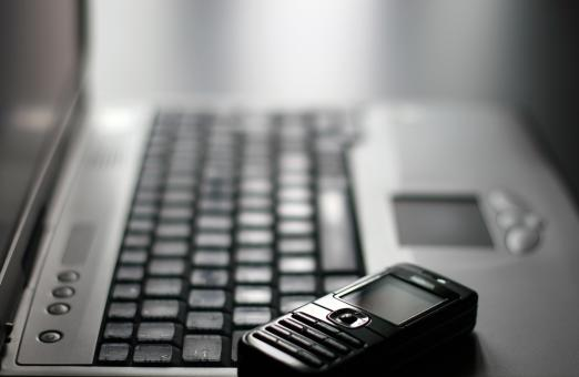 Keyboard and mobile phone - Free Stock Photo