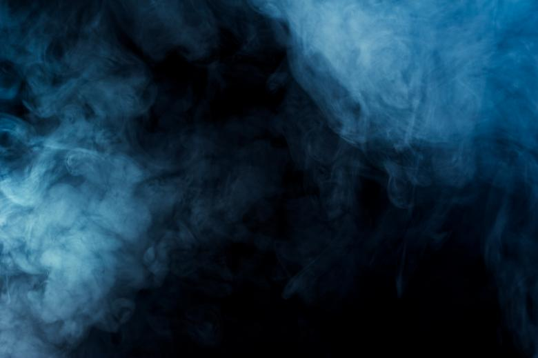 Free Stock Photo of Blue Smoke Effect Created by Bjorgvin