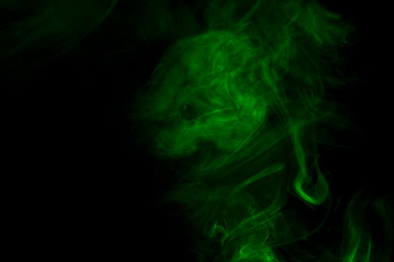 Free Stock Photo of Green Smoke Effect Created by Bjorgvin