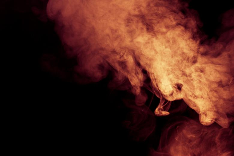 Free Stock Photo of Orange Smoke Created by Bjorgvin