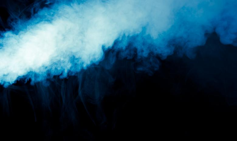 Free Stock Photo of Thick Blue Smoke Effect Created by Bjorgvin