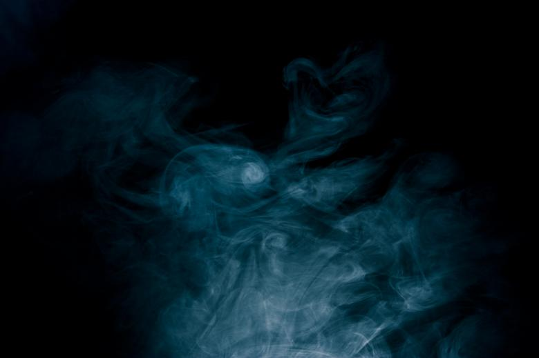 Free Stock Photo of Blue Smoke on Black Created by Bjorgvin