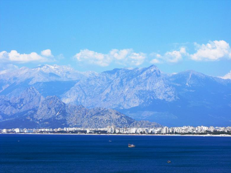 Free Stock Photo of Antalya and the Taurus mountains Created by Yuliy Ganev