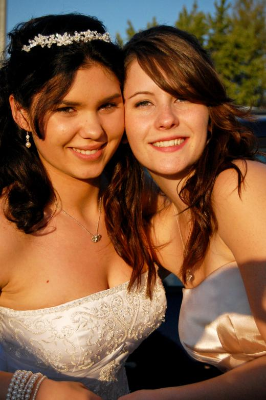 Free Stock Photo of Bride and bridesmaid Created by Adam Garza