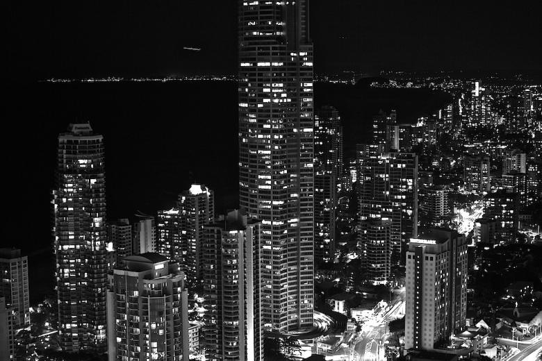 Free Stock Photo of Surfers Paradise at night Created by zenn maar