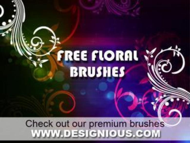 Free Stock Photo of Floral Photoshop Brushes Created by Designious