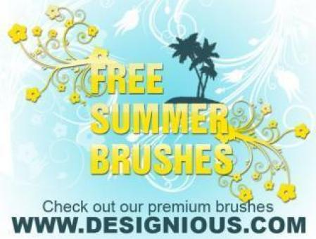 Summer Photoshop Brushes - Free Stock Photo
