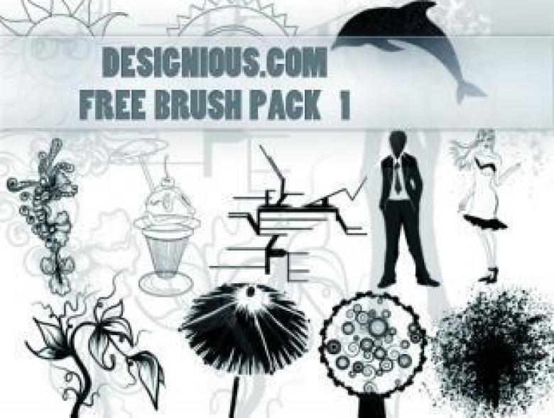 Free Stock Photo of Photoshop Brush Pack 1 Created by Designious