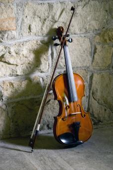 Violin & Bow String - Free Stock Photo