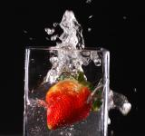 Free Photo - Splashing strawberry