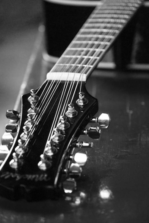 Free Stock Photo of Twelve String Guitar Created by Angela Sickelsmith