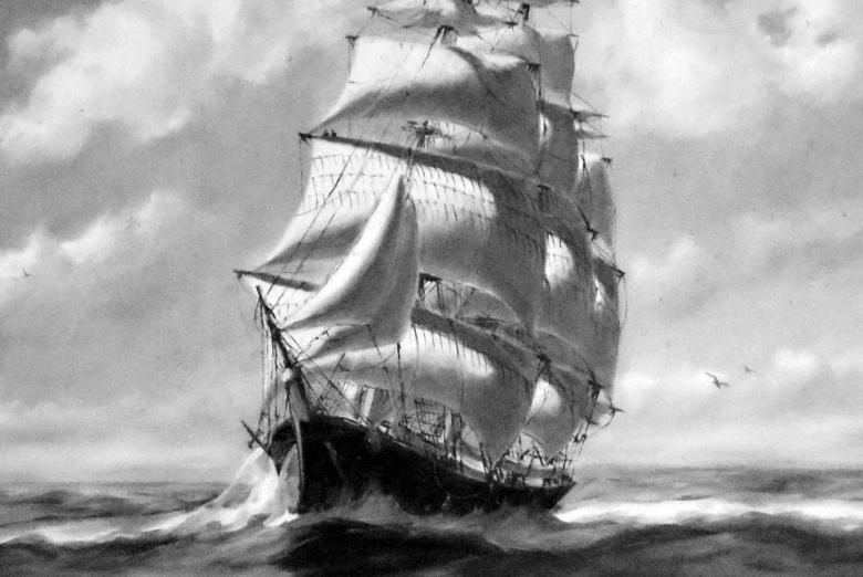 Tall Ship Painting Free Photo