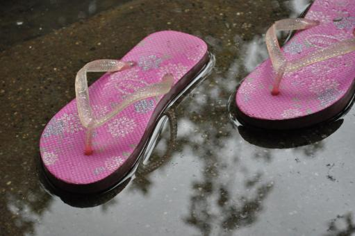 Pink rubber slippers - Free Stock Photo