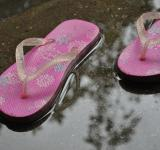 Free Photo - Pink rubber slippers