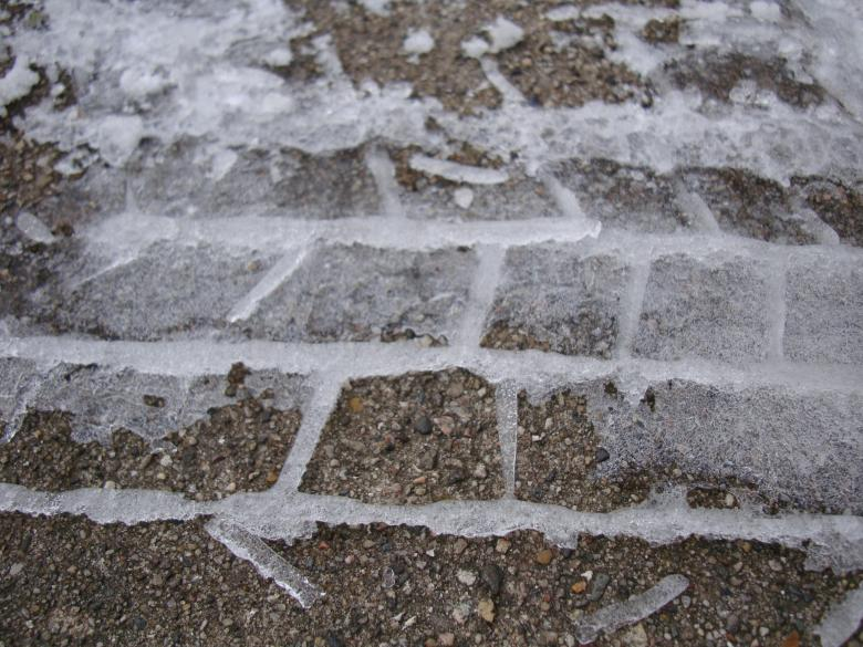 Free Stock Photo of Frozen tire track Created by Nathan Bierma