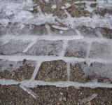 Free Photo - Frozen tire track