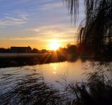 Free Photo - Sunset over river