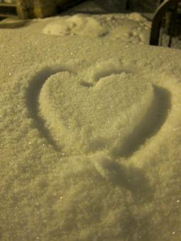 Snowy Heart - Free Stock Photo