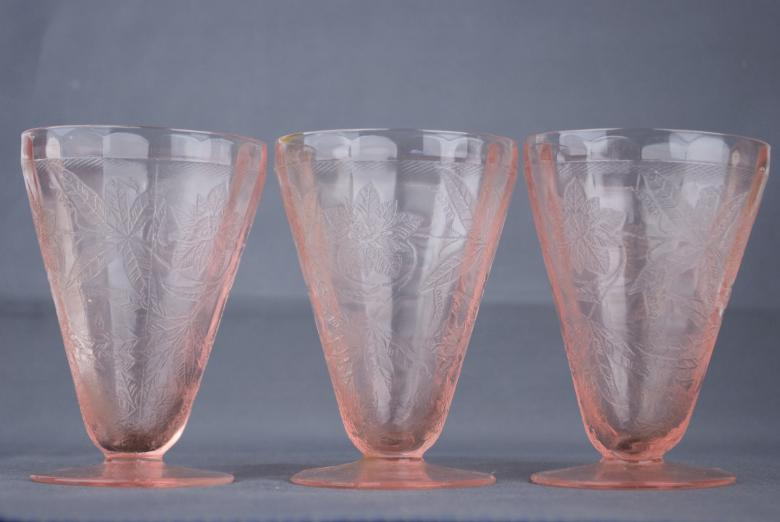 Free Stock Photo of Pink Depression Glass Created by Angela Sickelsmith