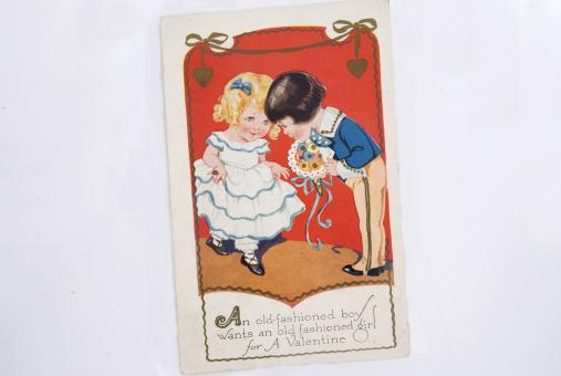 Vintage Valentine Card - Free Stock Photo