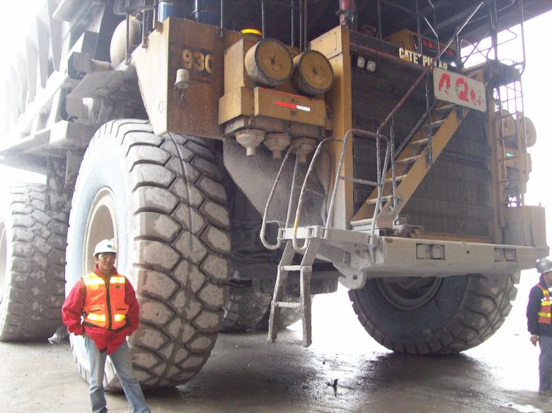 Free Stock Photo of Haul Truck and Me Created by Jochanan Wahjudi
