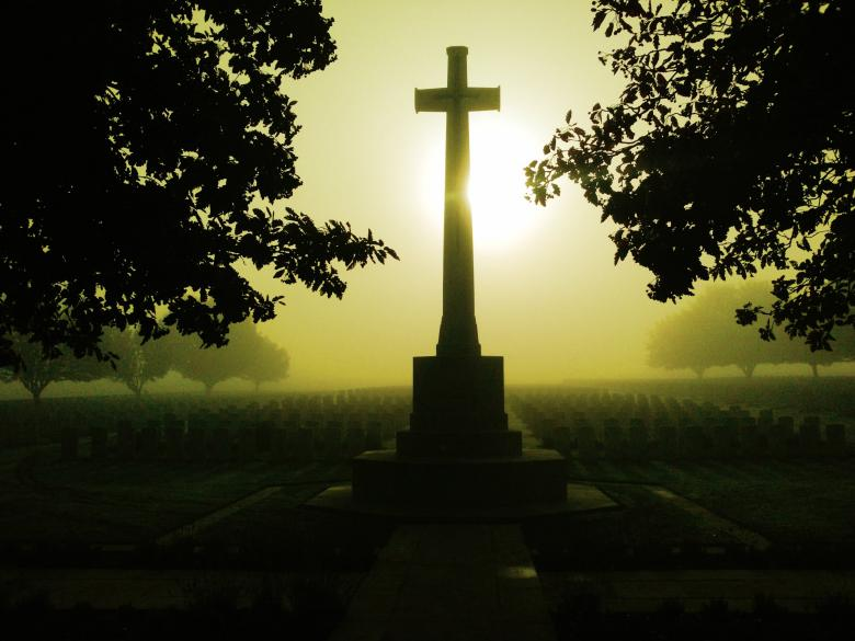 Free Stock Photo of Misty Dawn On The Somme Created by David R Grainger