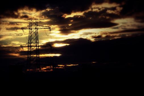 Cloudy Pylons - Free Stock Photo