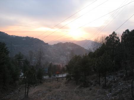 Sunset in Murree Hills (Pakistan) - Free Stock Photo