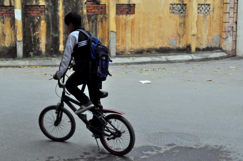 Free Stock Photo of Cycling to School Created by Maryrose Roque