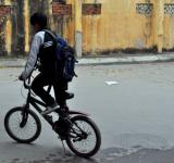Free Photo - Cycling to School