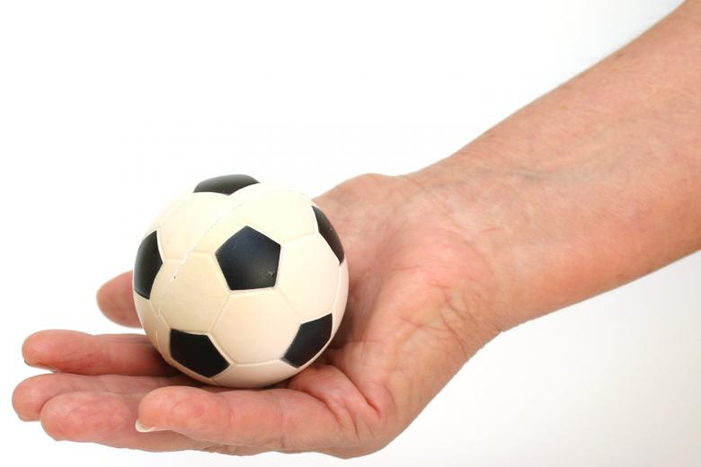 Free Stock Photo of soccer ball in hand Created by homero chapa