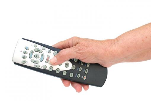 remote control in hand isolated  - Free Stock Photo