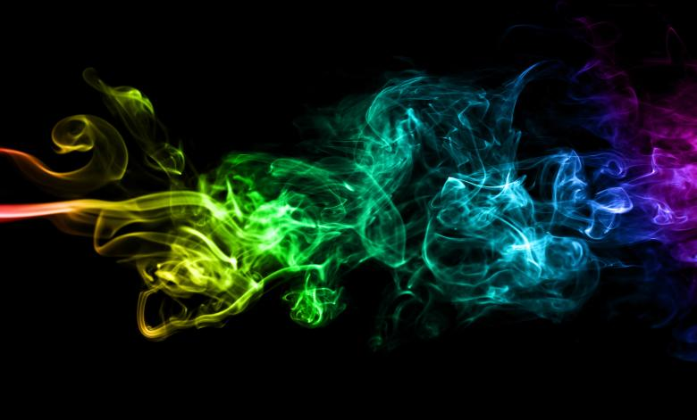 Free Stock Photo of Detailed Abstract Multicolor Smoke Created by 2happy