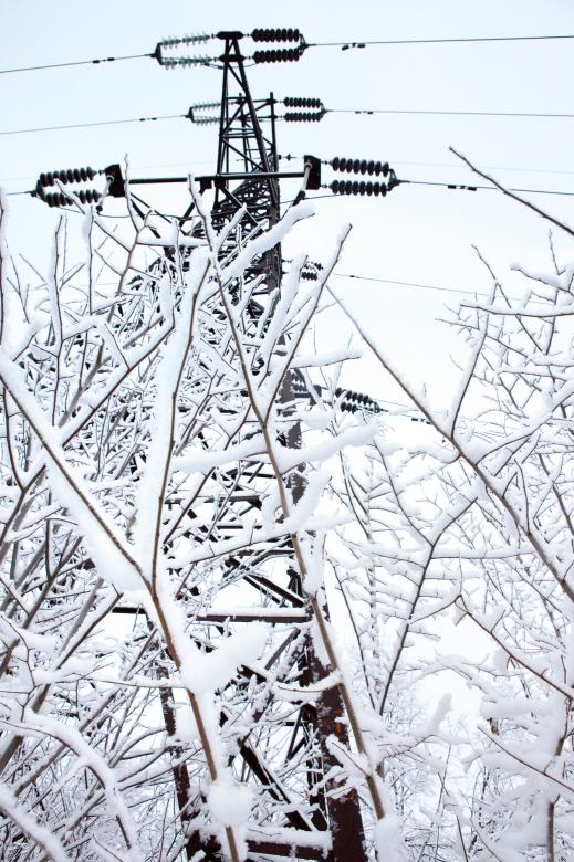 Free Stock Photo of Icy Power Lines Created by 2happy