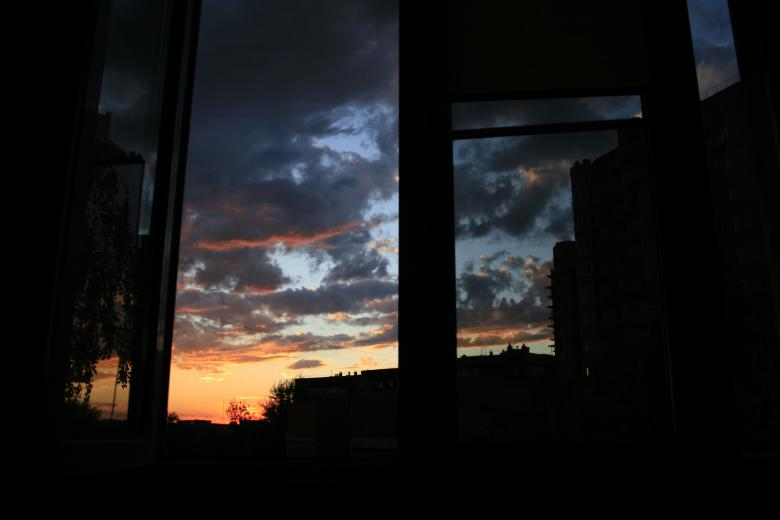 Free Stock Photo of Sky in window Created by 2happy