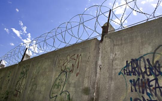 Barbed wire wall - Free Stock Photo