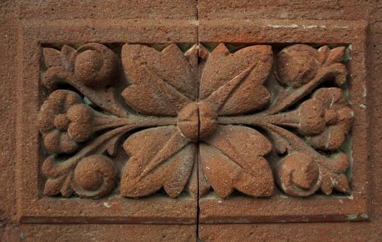 Ornate Floral Brick - Free Stock Photo